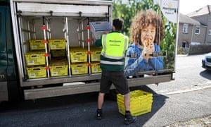 Morrisons supermarket delivery van