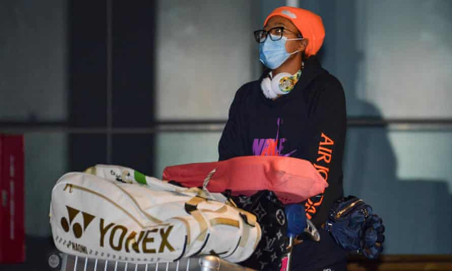 Naomi Osaka arrives in Australia