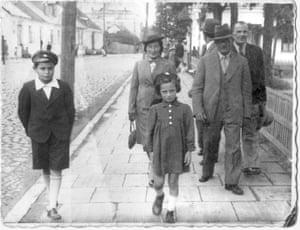 Mikhal Dekel's father, Hannan, far left, one of the Tehran Children
