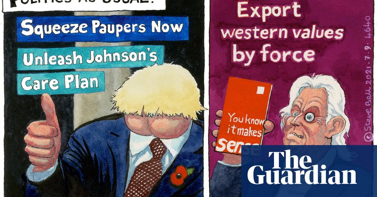 Steve Bell on Johnson, Blair and politics as usual — cartoon