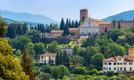 Basilica San Miniato al Monte in Florence, on the south bank of the River Arno.