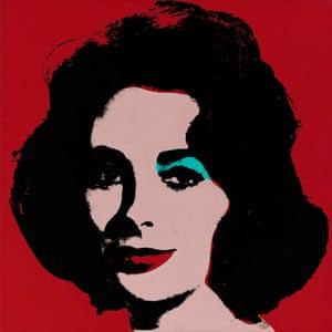 Warhol's 1963 work depicting Elizabeth Taylor