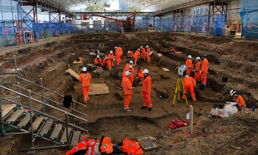 HS2 excavations under way in St James's, London.