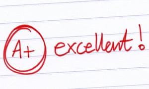 "The words ""Aplus excellent"" written on school work."