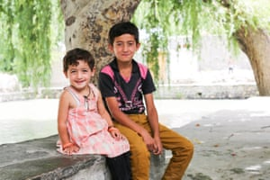 """""""What's your favorite thing about your sister?"""" """"Her happiness.""""  (Hunza Valley, Pakistan)"""