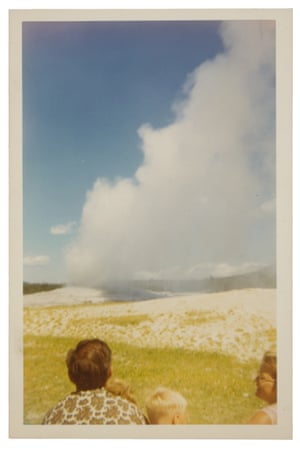 Old Faithful at Yellowstone National Park, pictured in a 1968 snapshot (photographer unknown). The geyser has been a must-see since Yellowstone became the first official national park in 1872