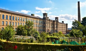 Salts Mill, Saltaire. South elevation.