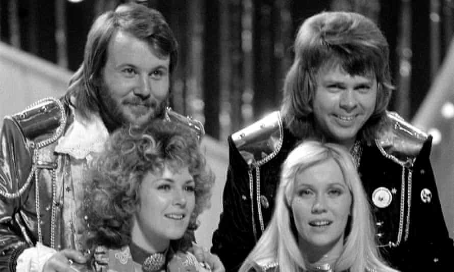 Abba in Brighton after their Eurovision song contest victory in 1974.