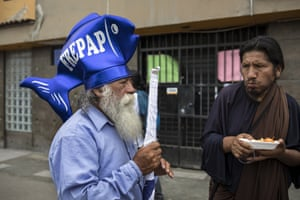 Peruvians weary of graft and politicians 'think a person with a religious vocation is not going to rob you or be corrupt'.