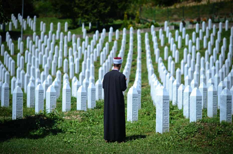 Graves of some of those who died in the 1995 Srebrenica massacre, the subject of Ausma Zehanat Khan's The Unquiet Dead.