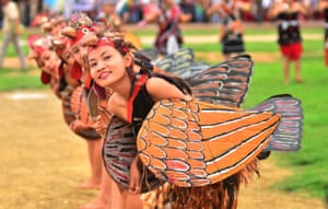 Dimapur, IndiaChakeshang Naga performs a chicken dance to mark the country's 70th independence day celebrations