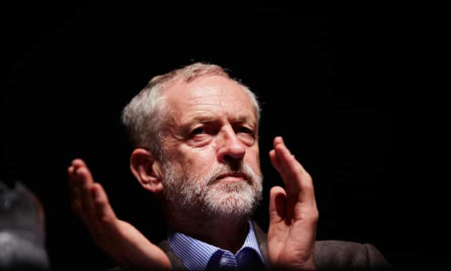Jeremy Corbyn at a rally at Middlesbrough town hall, Teesside