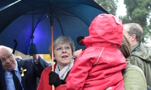 Theresa May tours the Royal Welsh Winter Fair