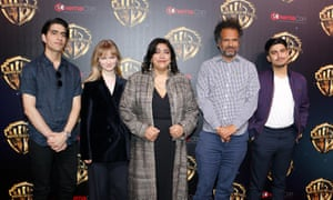 Screen time: (from left) Viveik Kalra, Nell Williams, Gurinder Chadha, Sarfraz Manzoor and Aaron Phagura