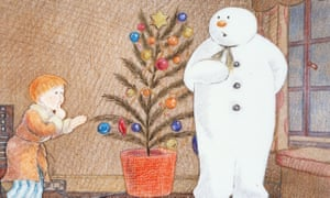 A still from the film version of The Snowman