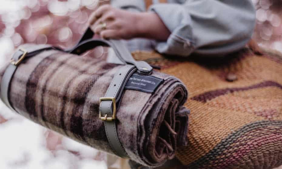 Recycled wool picnic blanket in Mackellar Tartan by the Tartan Blanket Company