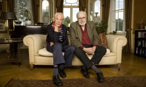 Alan Simpson, right, with his writing partner, Ray Galton, in 2008.