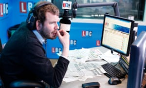 Presenter James O'Brien: 'snippets of his besting some ignorant sap frequently show up on social media.'