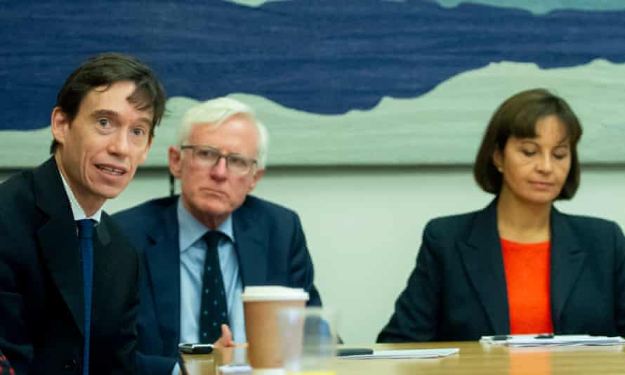 (Left to right) Rory Stewart, Norman Lamb and Caroline Flint, during a press briefing held by MPs for a Deal, 10 September, London.
