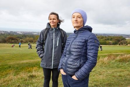 Michaela Spryanova (left) and Rachel Henson at Hollingbury golf course in Brighton