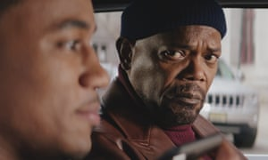 Jessie T Usher and Samuel L Jackson in Shaft.