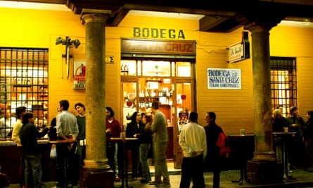 Bodega Santa Cruz in the cathedral area of Seville, Andalucia, Spain, Europe