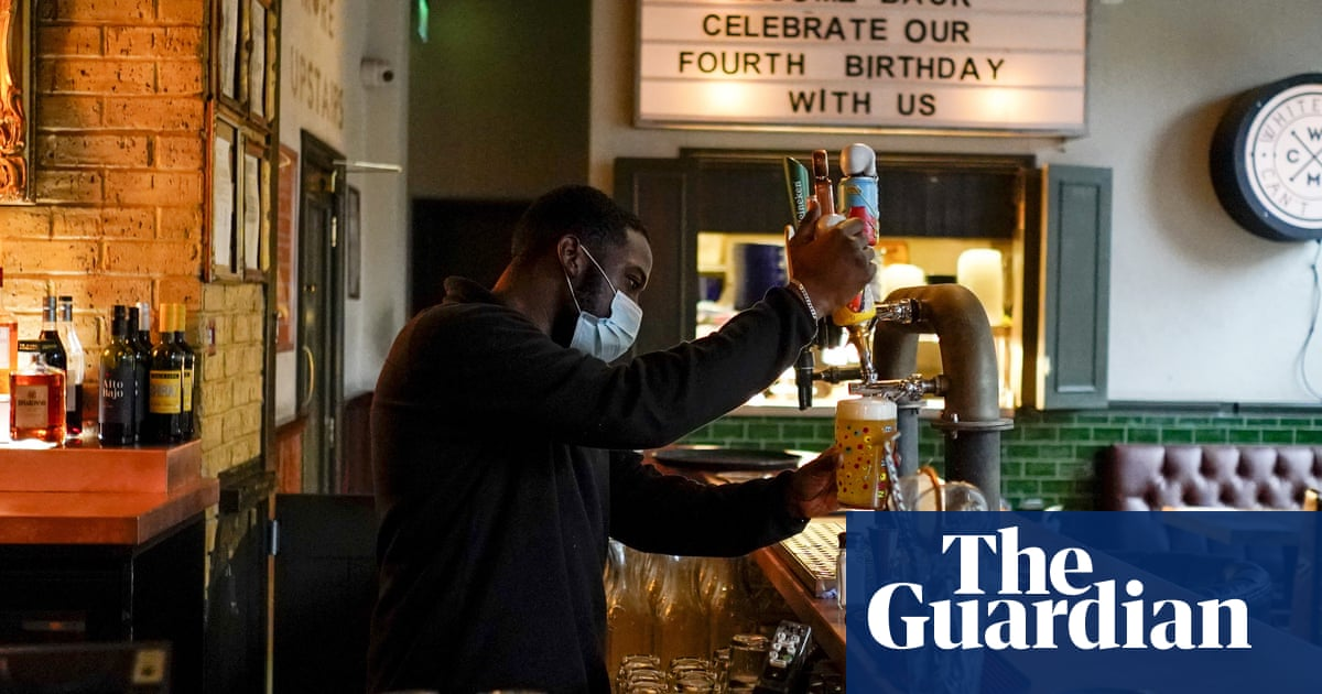 UK pubs' turnover 20% down on pre-Covid levels despite return of indoor drinking