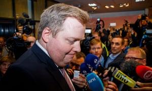 Sigmundur Davíð Gunnlaugsson, Iceland's prime minister, resigns over the Panama Papers leak