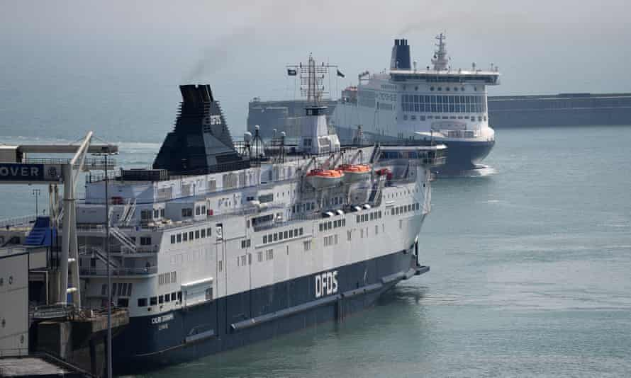 Ferries from France arriving at Dover this week