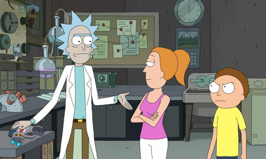 'Disgusting' … a subset of fans detected a drop-off in quality of the Rick and Morty episodes written by women.