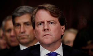 Don McGahn told the special counsel that Trump called him in June 2017 asking to pressure the deputy attorney general Rod Rosenstein to fire Robert Mueller.