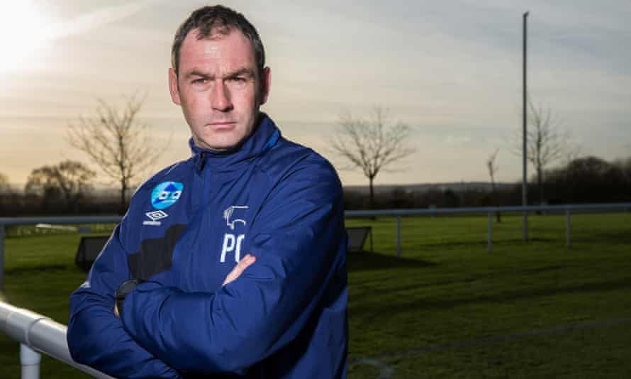 Derby County's manager Paul Clement
