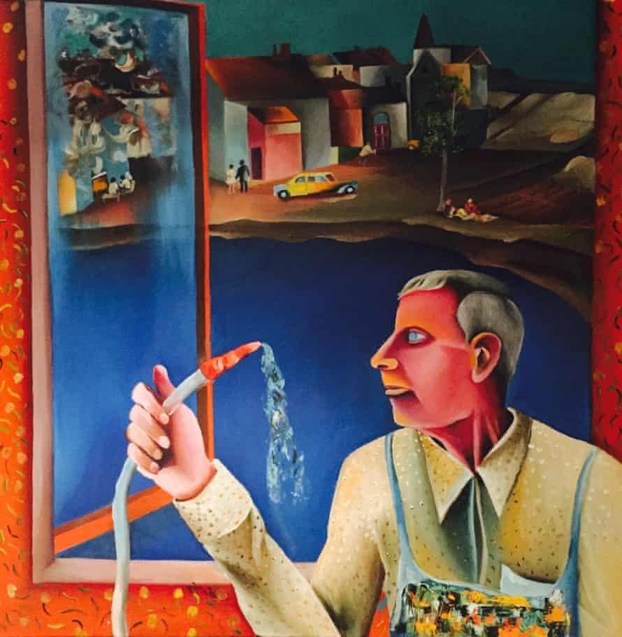 bhupen khakhar window cleaner 1982