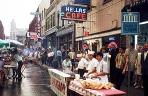 Greektown street festival, Detroit, late 60s