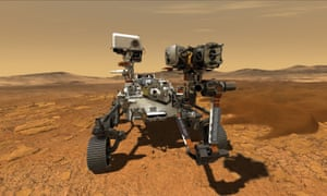 The US Mars rover Perseverance.