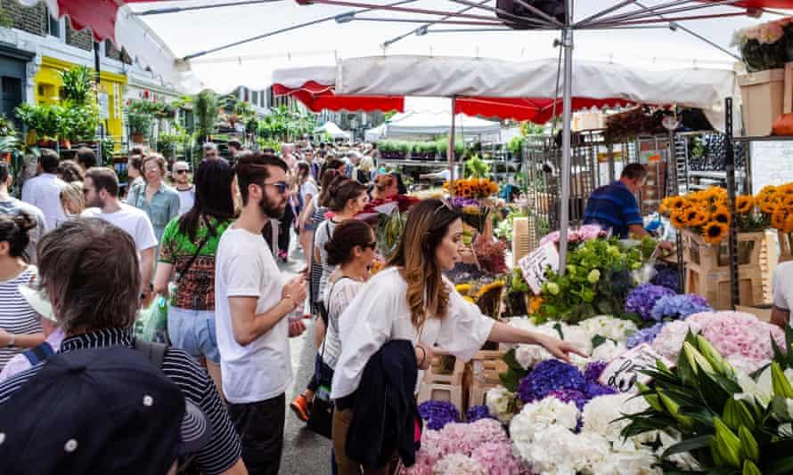 Columbia Road flower market, east London, UK.
