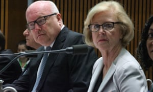 George Brandis and Gillian Triggs