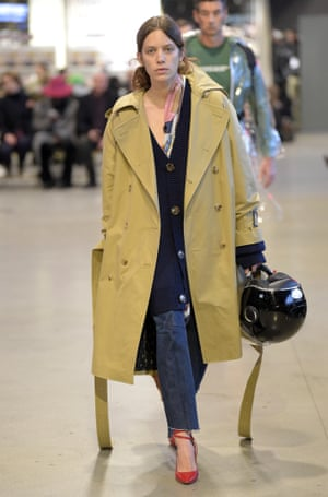A trench on the Vetements catwalk in January 2017.