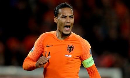 Virgil van Dijk of the Netherlands during the Euro 2020 qualifier against Northern Ireland in October last year.