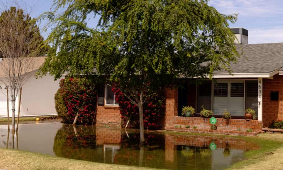 A flood-irrigated home in Phoenix.