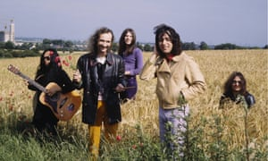 Holger Czukay, second left, with other members of Can in the early 1970s.