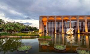 Reflected glory: Brasilía's Itamaraty palace, designed by Oscar Niemeyer.