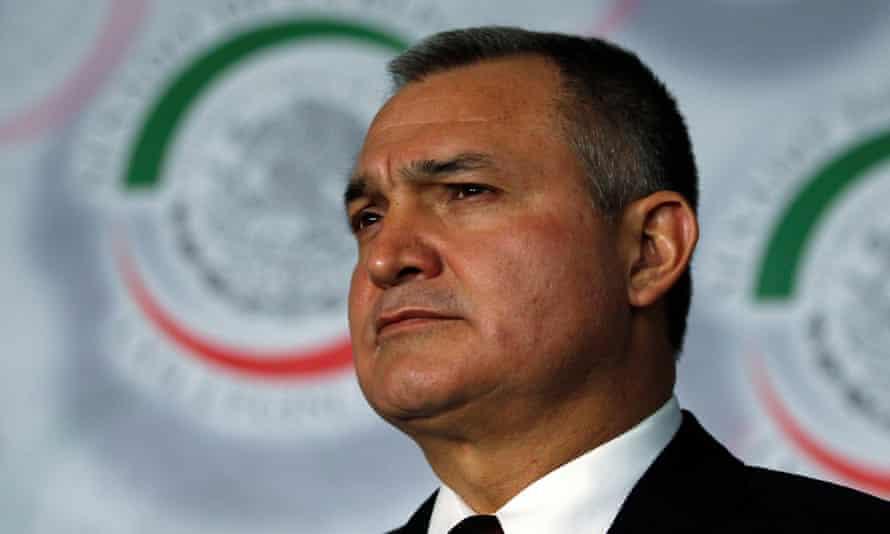 Genaro García Luna was arrested in Dallas on Monday, prosecutors said.