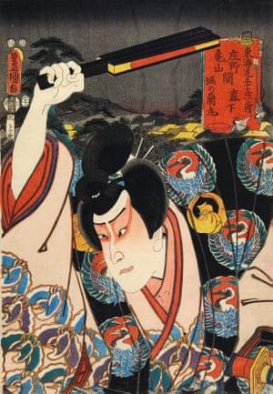 The actor Ichikawa Danjuro IX as Hori no Ranmaru, 1852.