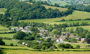 View over the village of Skenfrith in Wales, where prices are rising faster than the rest of the UK