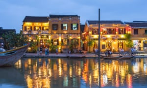 Hoi An riverfront by scene night