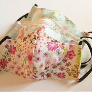 Recycled cotton face masks in two sizes, made from textile off-cuts. £6.45, Clean U, ethical.market