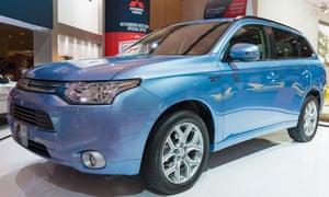 The Mitsubishi Outlander plug-in hybrid car