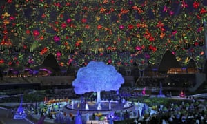 Artists perform during the opening ceremony of the Dubai Expo 2020 in Dubai, United Arab Emirates on 30 September.