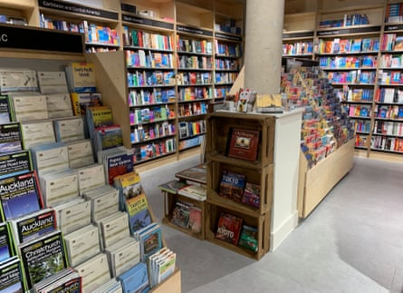 Maps and guidebooks at Stanfords' new London store on Mercer Walk.